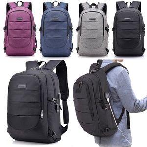 Large Capacity Laptop Backpack Business Travel Bag